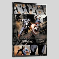 "Steve Epting ""Captain America #37"" Limited Edition 18x27 Giclee on Canvas"