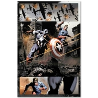 """Steve Epting """"Captain America #37"""" Limited Edition 18x27 Giclee on Canvas at PristineAuction.com"""