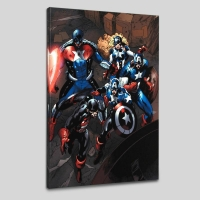 """Phil Briones & Marvel Comics """"Captain America Corps #2"""" LE 18"""" x 27"""" Giclee on Canvas"""
