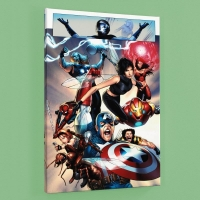 """Ultimate Fantastic Four #26"" Limited Edition 18x27 Giclee on Canvas by Greg Land and Marvel Comics"