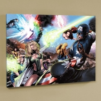 """Greg Land & Marvel Comics """"Ultimate Power #6"""" LE 24"""" x 18"""" Giclee on Canvas"""