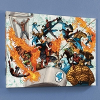 """Spider-Man/Fantastic Four #4"" Limited Edition 18x24 Giclee on Canvas by Mario Alberti and Marvel Comics at PristineAuction.com"