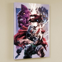 """Iron Man/ Thor #2"" LE 18x27 Giclee on Canvas by Stephen Segovia and Marvel Comics"
