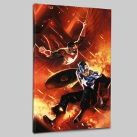 """Mitchell Breitweiser """"Captain America #607"""" Limited Edition 18x27 Giclee on Canvas"""