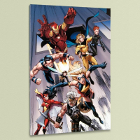 """The Mighty Avengers #7"" Limited Edition 18x27 Giclee on Canvas by Mark Bagley & Marvel Comics"