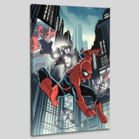 """Timestorm 2009/2099: Spider-Man One-Shot #1"" LE 18x27 Giclee on Canvas by Paul Renaud and Marvel Comics"