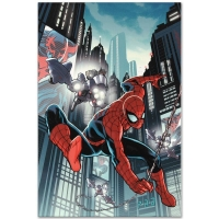 """""""Timestorm 2009/2099: Spider-Man One-Shot #1"""" LE 18x27 Giclee on Canvas by Paul Renaud and Marvel Comics at PristineAuction.com"""