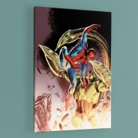 """""""Heroes For Hire #8"""" Limited Edition 18x27 Giclee on Canvas by Doug Braithwaite and Marvel Comics"""