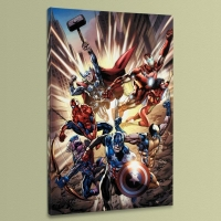 """Avengers #12.1"" LE 18x27 Giclee on Canvas by Bryan Hitch and Marvel Comics"