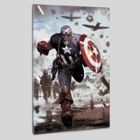 """Daniel Acuna & Marvel Comics """"Captain America #615"""" LE 18"""" x 27"""" Giclee on Canvas"""