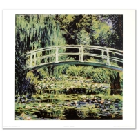 """White Waterlilies"" Fine Art 28x30 Print by Monet at PristineAuction.com"