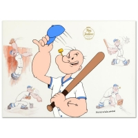 "Myron Waldman Signed ""Take Him Out To The Ballgame"" Limited Edition 15x11 Sericel"
