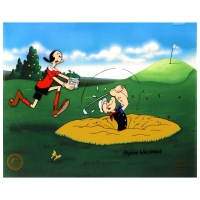 "Myron Waldman Signed ""A Day At The Links"" LE 14x12 Hand Inked & Painted Animation Cel"