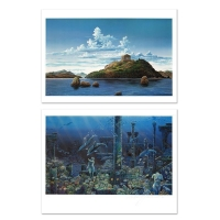 """Robert Lyn Nelson Signed """"Athenian Odyssey"""" Limited Edition 16x26 Mixed Media Diptych at PristineAuction.com"""