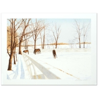 "William Nelson Signed ""Winter Pasture"" Limited Edition 21x28 Serigraph"