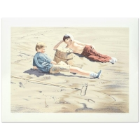 "William Nelson Signed ""The Beach Combers"" Limited Edition 22x29 Serigraph at PristineAuction.com"