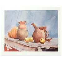 """William Nelson """"Pottery Still Life"""" Signed Limited Edition 25x19 Lithograph at PristineAuction.com"""