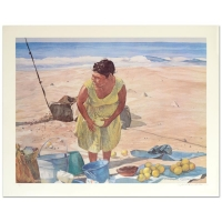 "William Nelson Signed ""Mexican Fruit Vendor"" Limited Edition 22x28 Serigraph at PristineAuction.com"