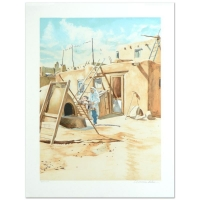 """William Nelson Signed """"Adobe Man"""" Limited Edition 22x29 Serigraph at PristineAuction.com"""
