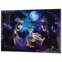 "Noah Signed ""Tink vs. Wendy"" Disney Limited Edition 16x24 Giclee on Canvas from a Sold Out Edition"
