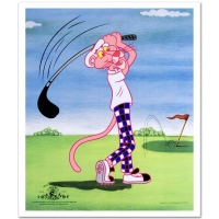 """Pink Panther Golfing"" Limited Edition 14x17 Sericel at PristineAuction.com"