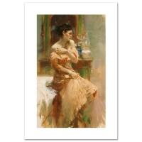 "Pino Signed ""Silk Taffeta"" LE Artist-Embellished 12x20 Giclee on Canvas (PA LOA)"