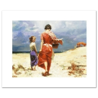 "Pino Signed ""Summer Retreat"" LE Artist-Embellished 12x16 Giclee on Canvas"