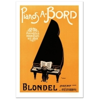 """""""Pianos A Bord"""" Hand Pulled 18x25 Lithograph by the RE Society at PristineAuction.com"""