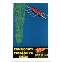 """""""Campionats de Catalunya"""" Hand-Pulled 15x22 Lithograph by the RE Society at PristineAuction.com"""