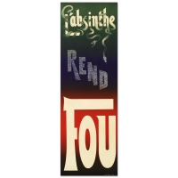 """L'Absinthe Rend Fou"" Hand-Pulled Lithograph 14x43 by the RE Society"