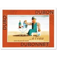 """""""Dubonnet A L'eau"""" Hand-Pulled 10x14 Lithograph by the RE Society at PristineAuction.com"""