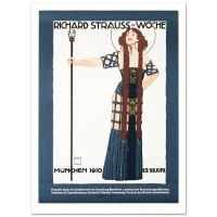 """""""Richard Strauss"""" Hand Pulled 20x27 Lithograph by the RE Society at PristineAuction.com"""