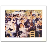 """""""Bal du Moulin de la Galette"""" Fine Art 26x33 Print by Renoir (PA LOA) at PristineAuction.com"""