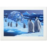 "William Schimmel Signed ""Antarctica's Children"" Limited Edition 25x35 Serigraph at PristineAuction.com"