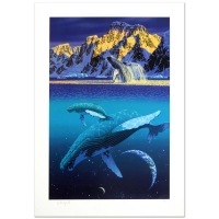 """William Schimmel Signed """"The Humpback's World"""" Limited Edition 20x30 Serigraph"""