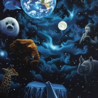 """William Schimmel Signed """"All the World's Children"""" Limited Edition 22x30 Serigraph at PristineAuction.com"""