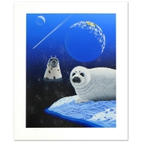 "William Schimmel Signed ""Our Home Too IV (Seals)"" Limited Edition 28x34 Serigraph at PristineAuction.com"