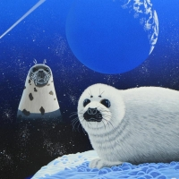 """William Schimmel Signed """"Our Home Too IV (Seals)"""" Limited Edition 28x34 Serigraph at PristineAuction.com"""