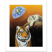 """William Schimmel Signed LE """"Our Home Too III (Tigers)"""" 28x34 Serigraph at PristineAuction.com"""