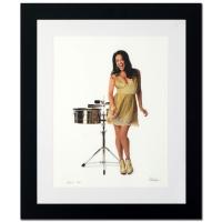 "Rob Shanahan Signed ""Sheila E."" Limited Edition 25x30 Custom Framed Giclee"