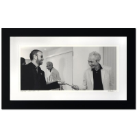 "Rob Shanahan Signed ""Ringo Starr & Charlie Watts"" Limited Edition 22x36 Custom Framed Giclee"