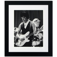 "Rob Shanahan Signed ""Jeff Beck"" Limited Edition 26x30 Custom Framed Giclee"