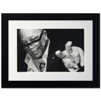 "Rob Shanahan Signed ""Quincy Jones"" Limited Edition 25x32 Custom Framed Giclee"