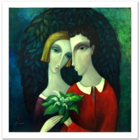 "Sergey Smirnov ""Homage To Chagall"" Signed Limited Edition 35x35 Mixed Media on Canvas at PristineAuction.com"