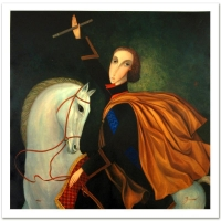 "Sergey Smirnov Signed ""Peter The Great: Emperor"" Limited Edition 36x36 Mixed Media on Canvas at PristineAuction.com"