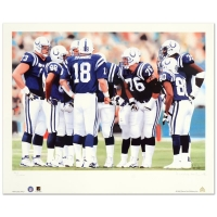 "Daniel M. Smith Signed ""The Huddle X (Colts)"" Limited Edition 14x20 Lithograph"