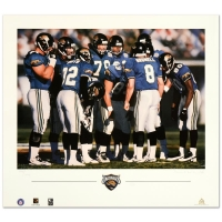 "Daniel M. Smith Signed ""The Huddle VII (Jaguars)"" Limited Edition 20x22 Lithograph"