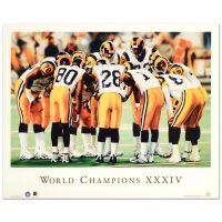 "Daniel M. Smith Signed ""World Champion XXXIV"" Rams Limited Edition 19x24 Lithograph #/1000 (Artist COA)"