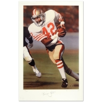 "Daniel M. Smith Signed ""Ronnie Lott"" Limited Edition 14x21 Lithograph"
