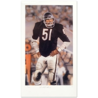 "Daniel M. Smith Signed ""Dick Butkus"" Limited Edition 13x22 Lithograph"